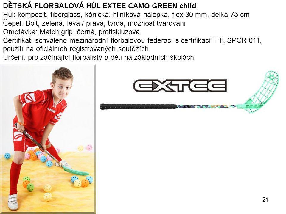 DĚTSKÁ FLORBALOVÁ HŮL EXTEE CAMO GREEN child