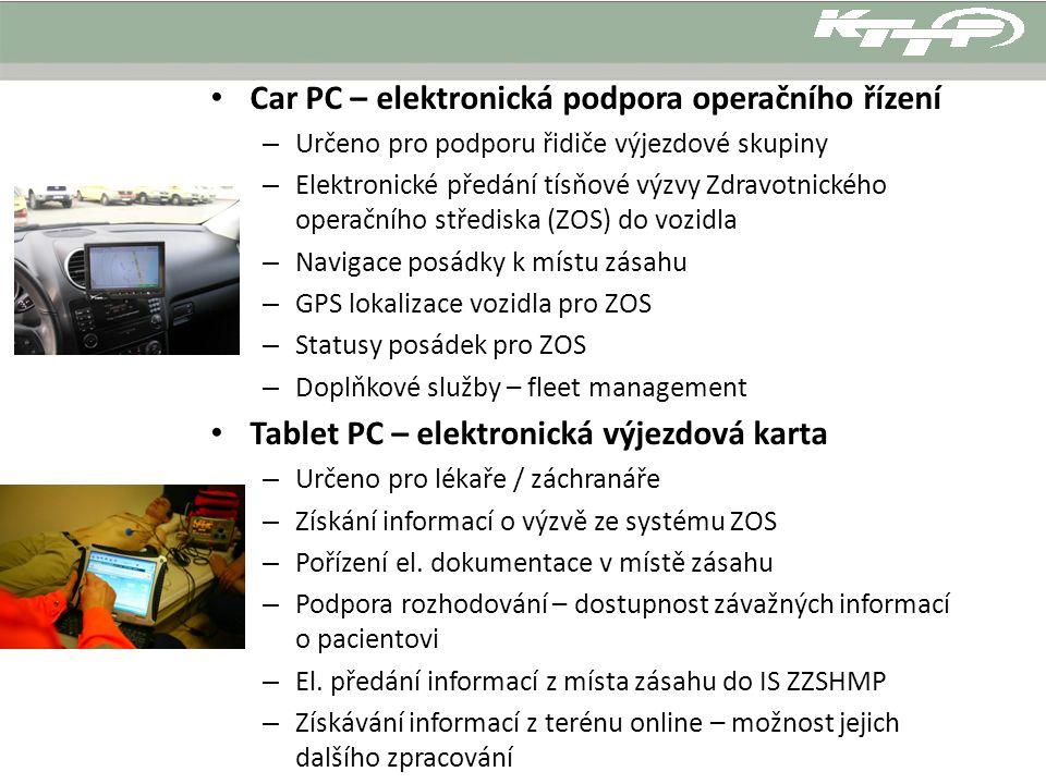 Car PC – elektronická podpora operačního řízení