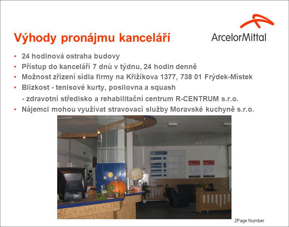 Kancelář - samostatná Výměra kanceláře cca 20 m2