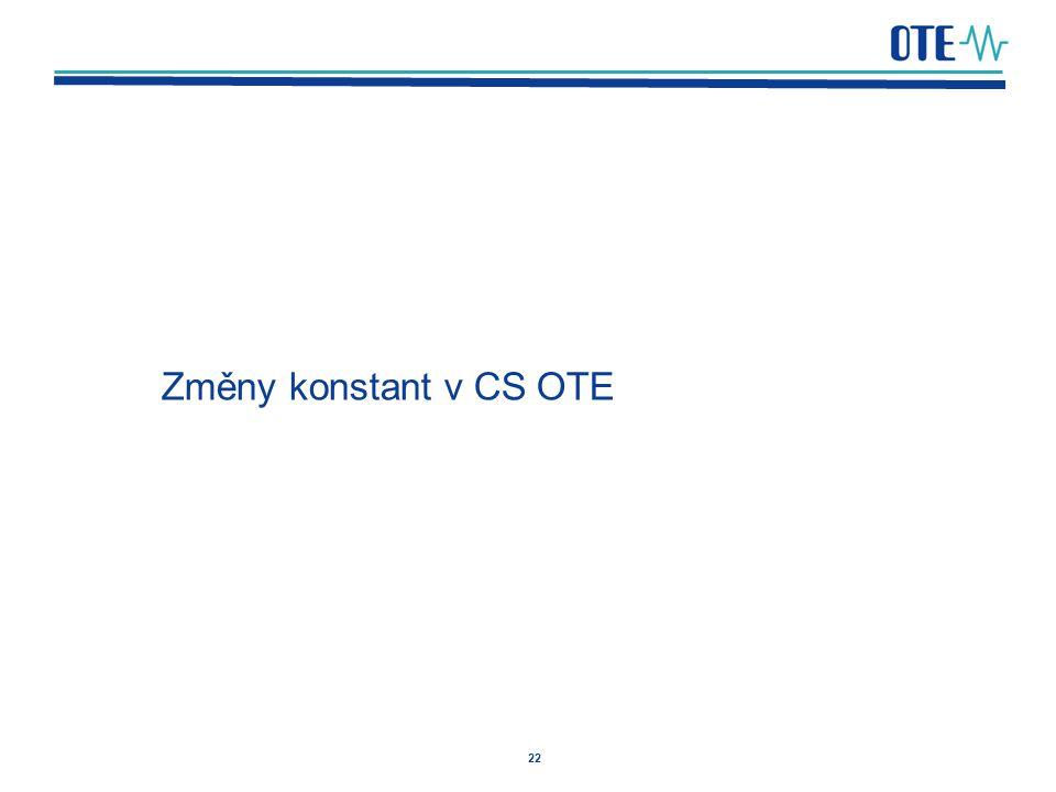 Změny konstant v CS OTE