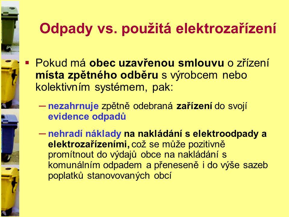 Odpady vs. použitá elektrozařízení