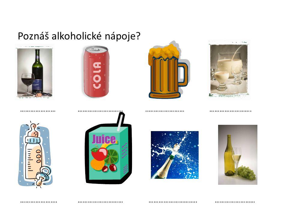 Poznáš alkoholické nápoje