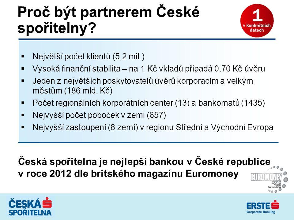 Proč být partnerem České spořitelny
