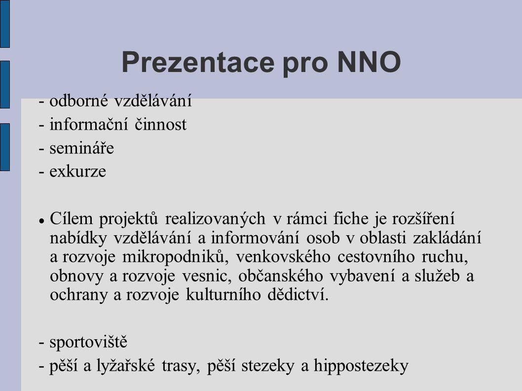Prezentace pro NNO - odborné vzdělávání - informační činnost
