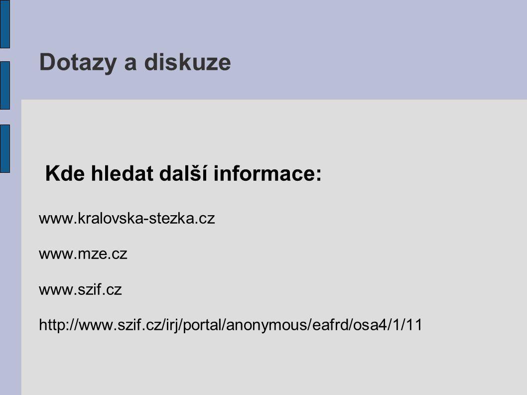 Dotazy a diskuze Kde hledat další informace: www.kralovska-stezka.cz