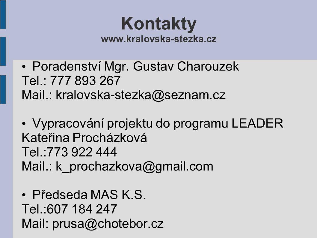 Kontakty www.kralovska-stezka.cz