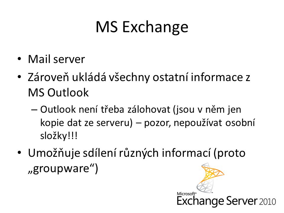 MS Exchange Mail server
