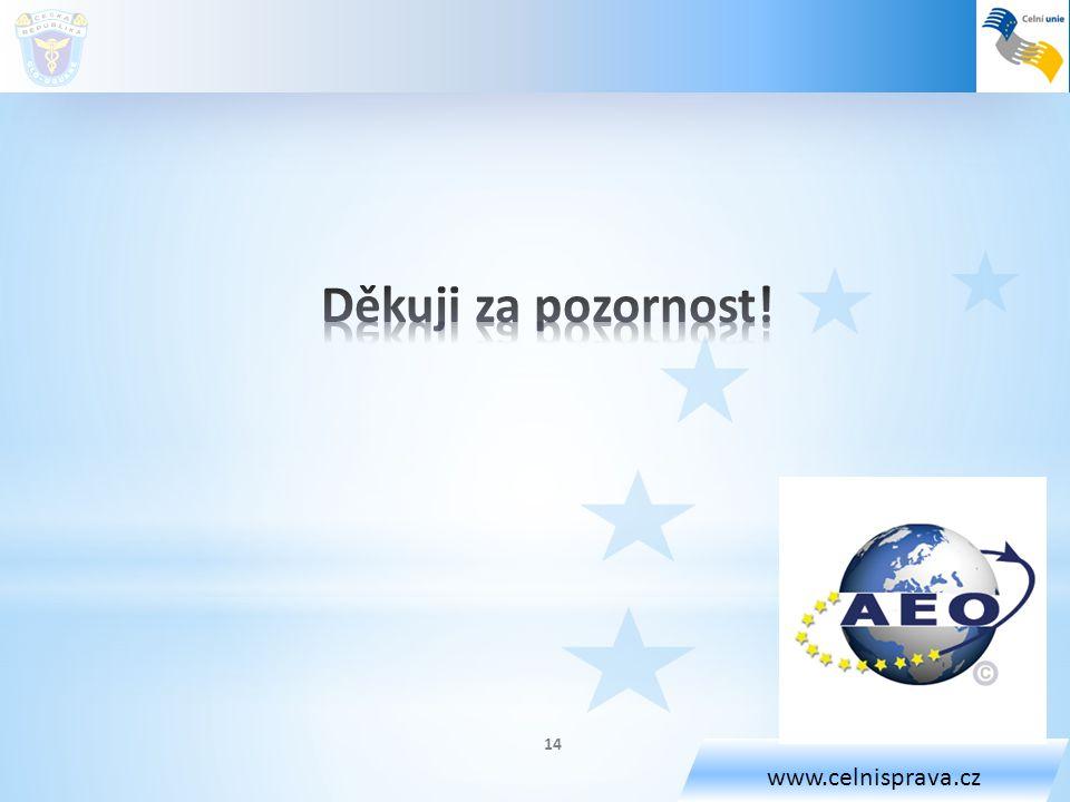 www.celnisprava.cz Děkuji za pozornost!