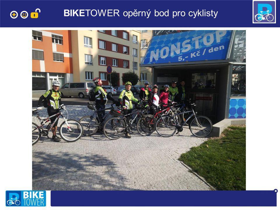 BIKETOWER opěrný bod pro cyklisty