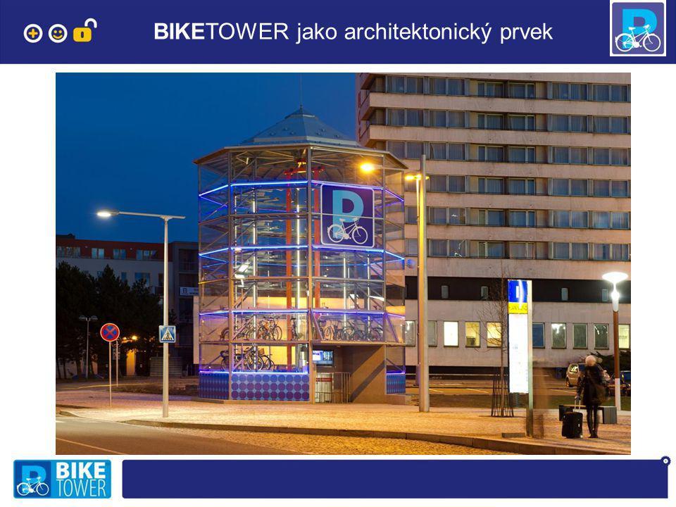 BIKETOWER jako architektonický prvek