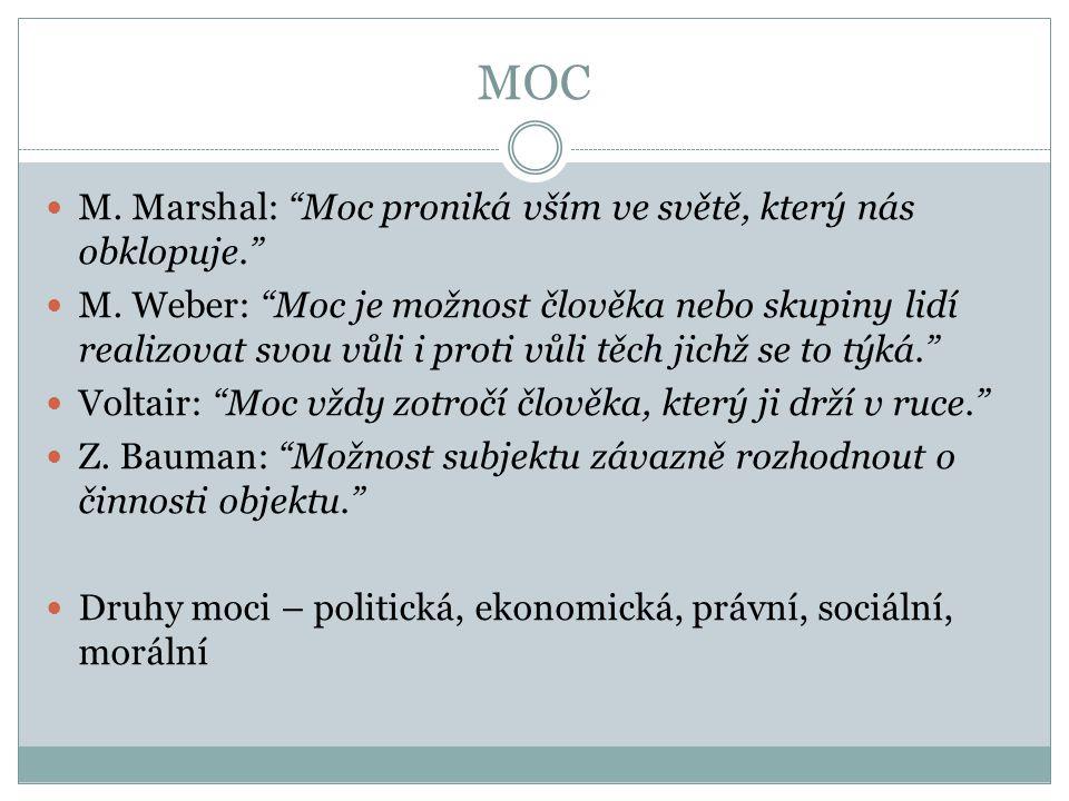 MOC M. Marshal: Moc proniká vším ve světě, který nás obklopuje.