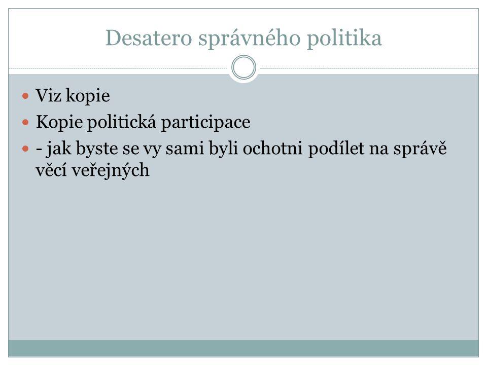 Desatero správného politika