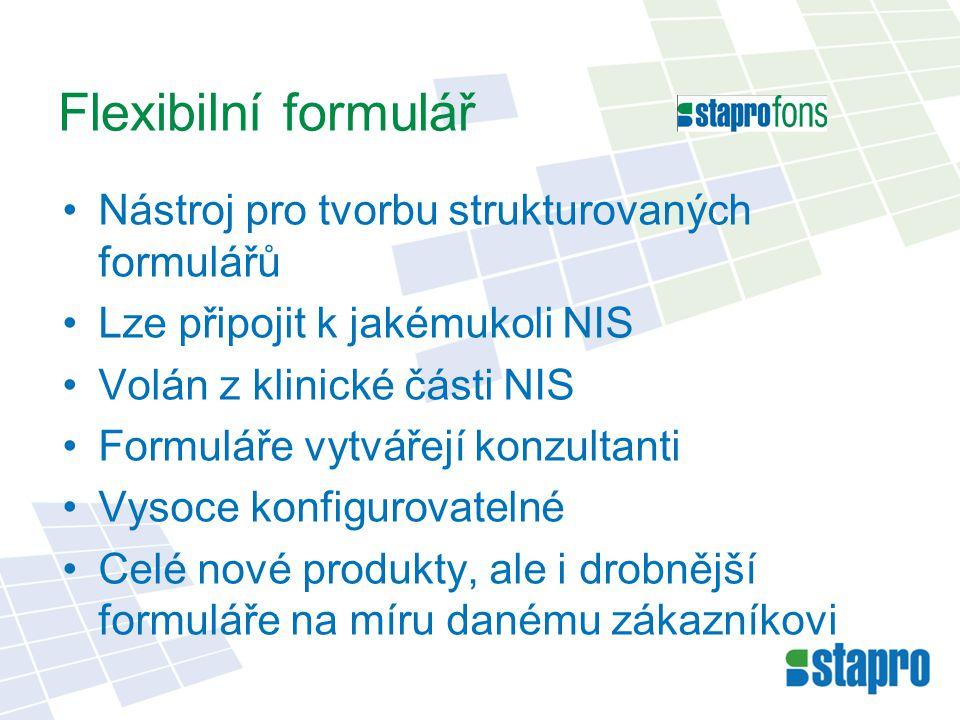 Flexibilní formulář Nástroj pro tvorbu strukturovaných formulářů