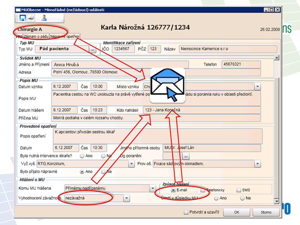 Posílání informačních e-mailů