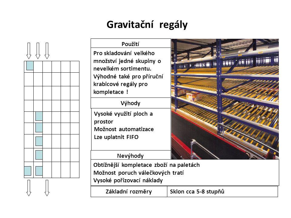 Gravitační regály Použití