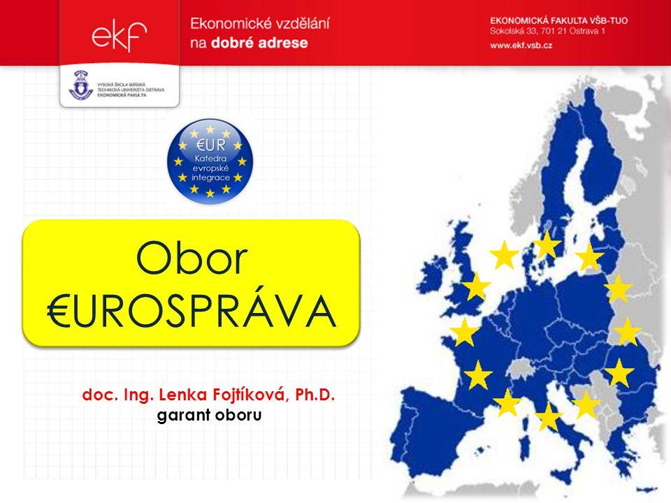 Obor €UROSPRÁVA doc. Ing. Lenka Fojtíková, Ph.D. garant oboru