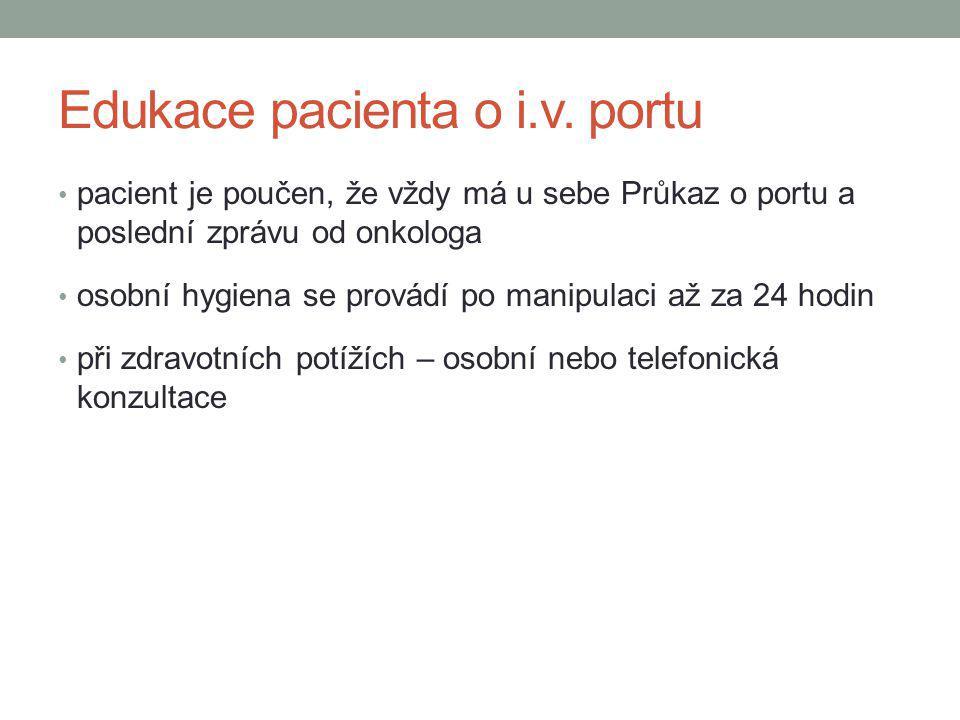 Edukace pacienta o i.v. portu