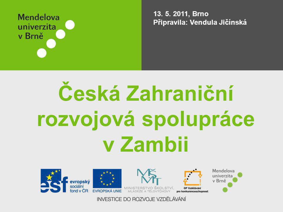 Česká Zahraniční rozvojová spolupráce v Zambii