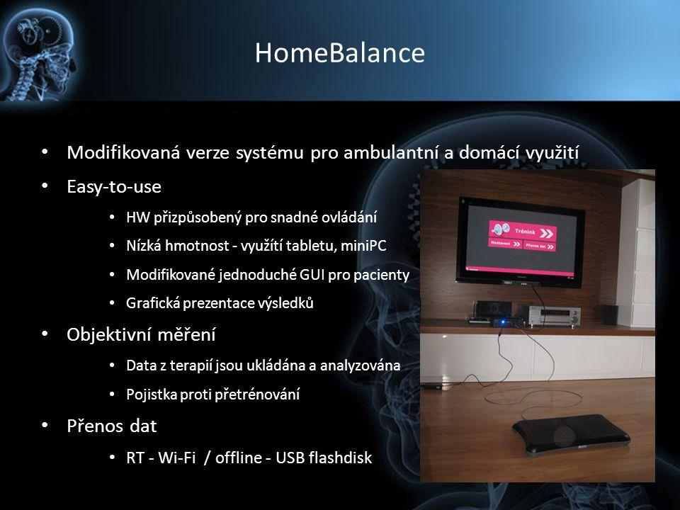 HomeBalance Modifikovaná verze systému pro ambulantní a domácí využití