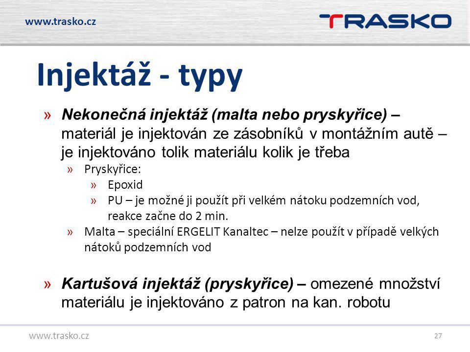 www.trasko.cz Injektáž - typy.