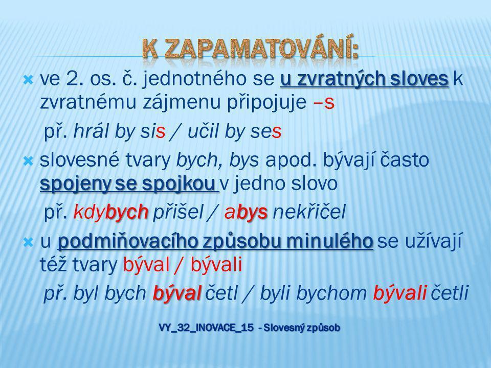 VY_32_INOVACE_15 - Slovesný způsob