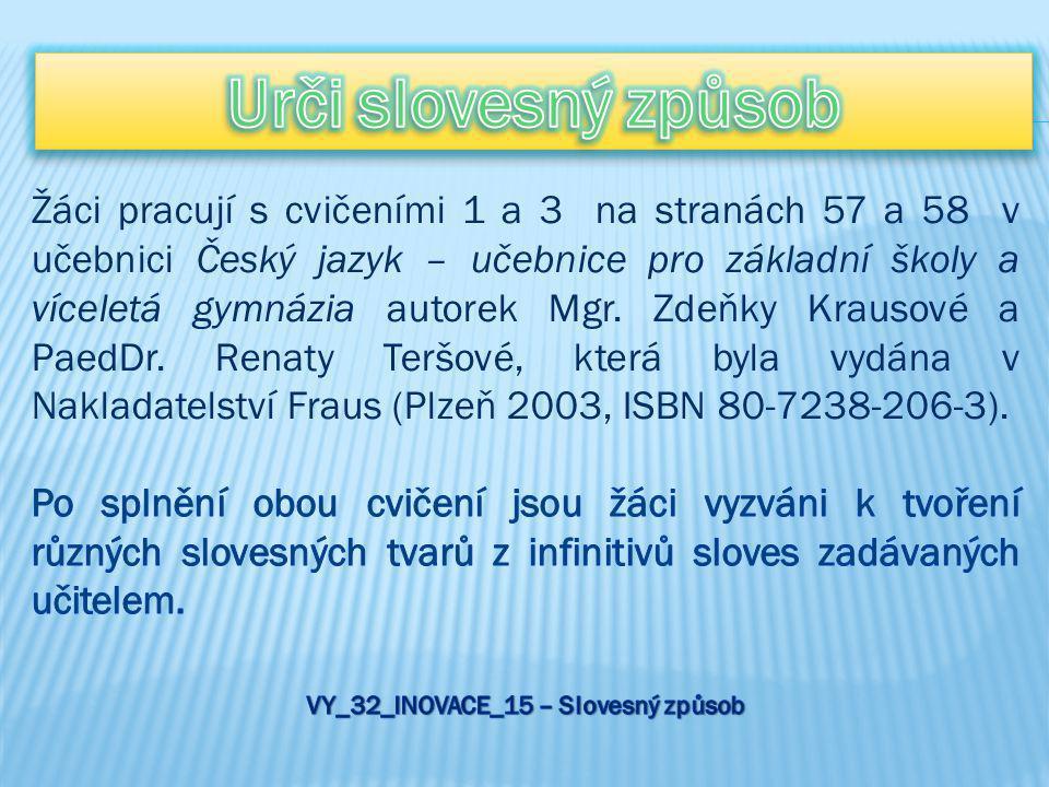 VY_32_INOVACE_15 – Slovesný způsob
