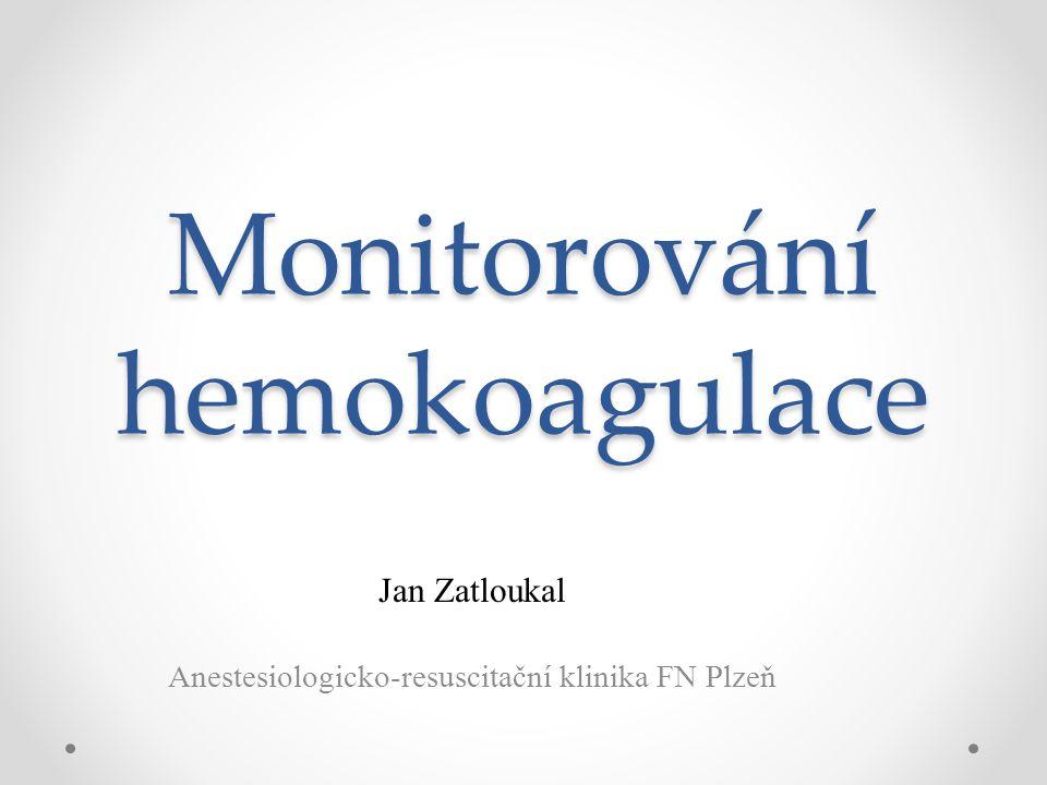 Monitorování hemokoagulace