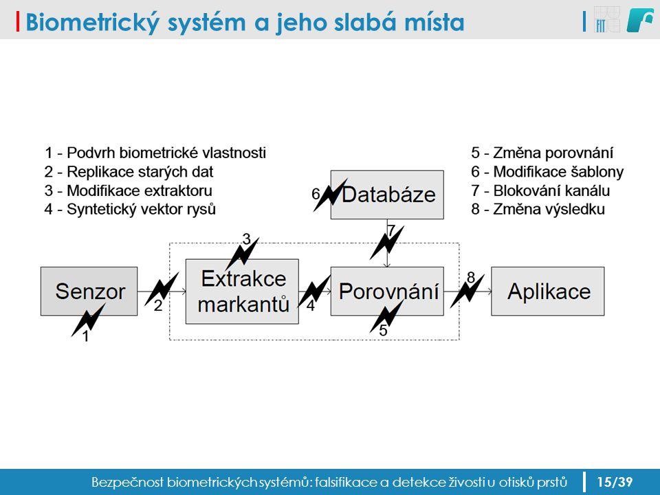 Biometrický systém a jeho slabá místa