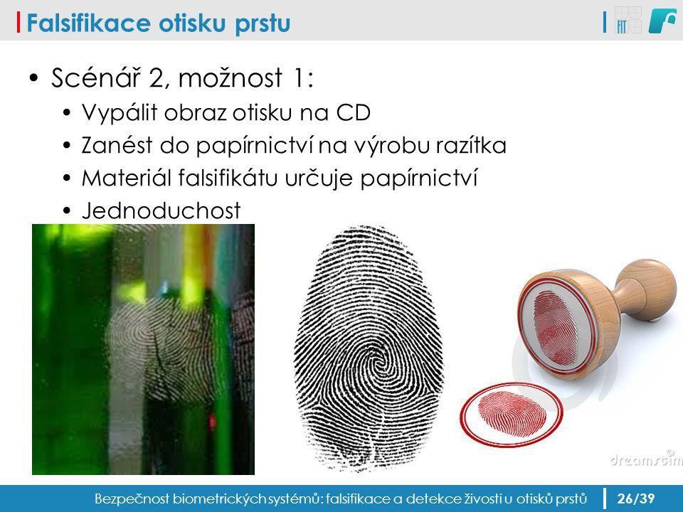 Falsifikace otisku prstu