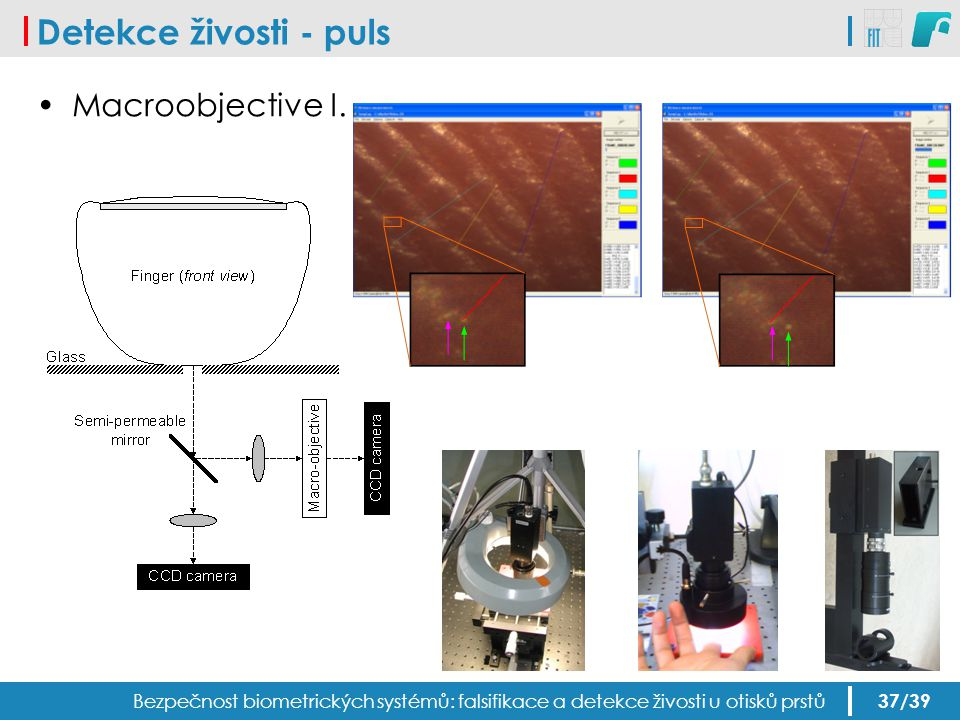 Detekce živosti - puls Macroobjective I.