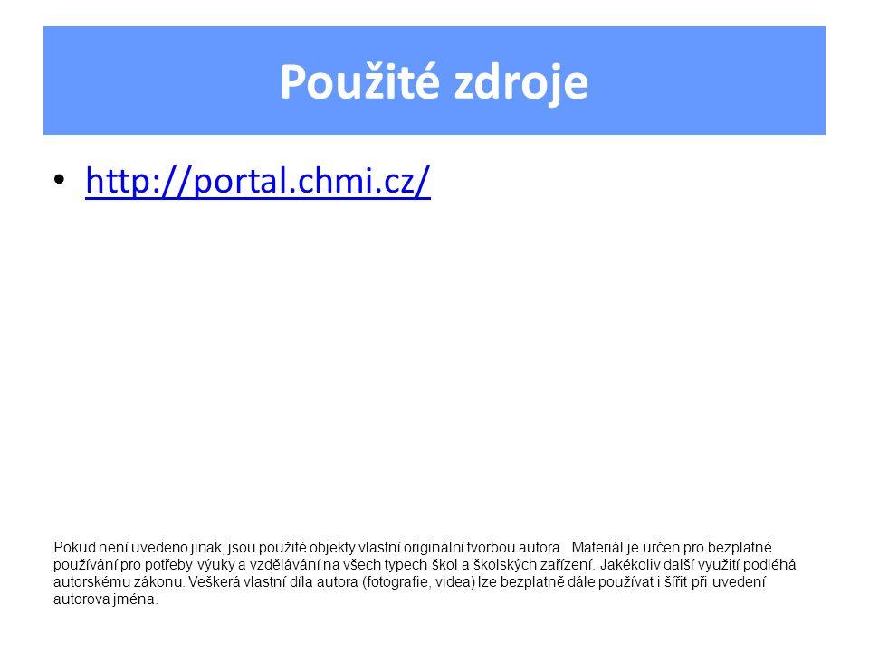 Použité zdroje http://portal.chmi.cz/