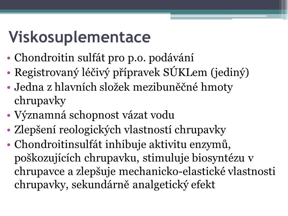 Viskosuplementace Chondroitin sulfát pro p.o. podávání