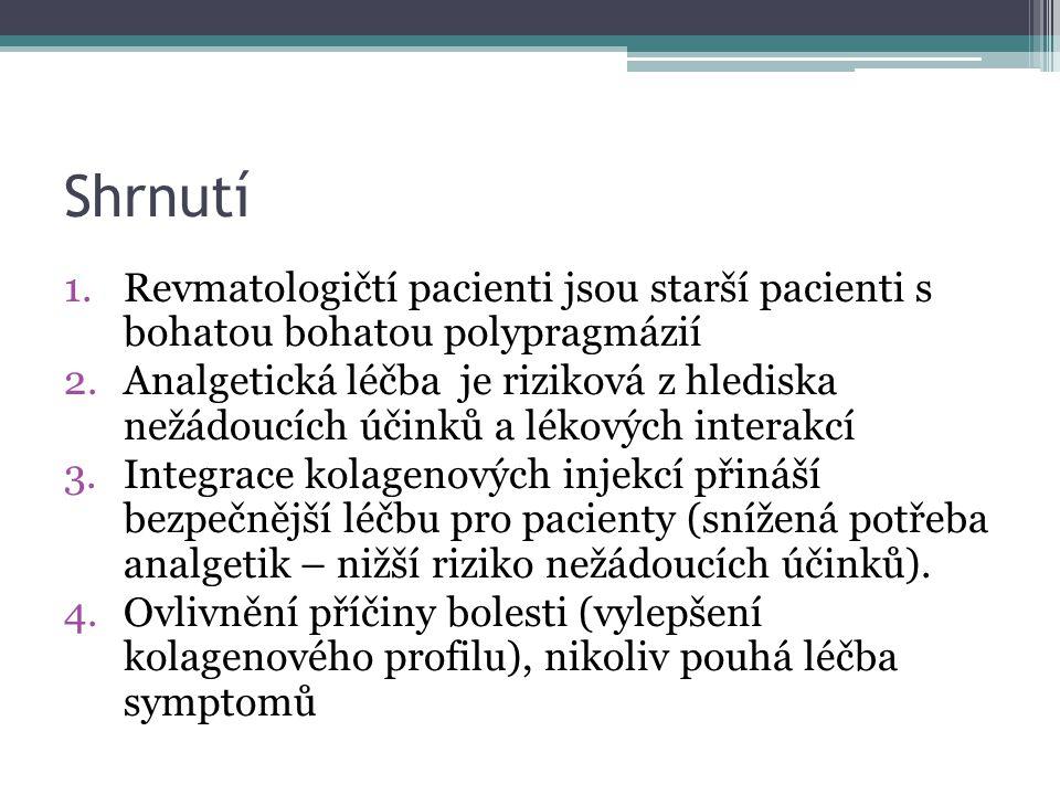 Shrnutí Revmatologičtí pacienti jsou starší pacienti s bohatou bohatou polypragmázií.