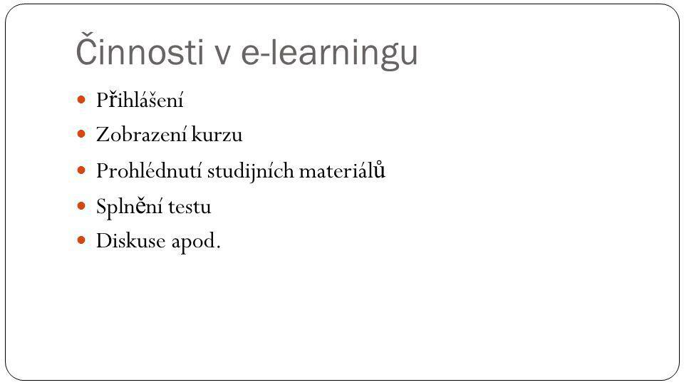 Činnosti v e-learningu