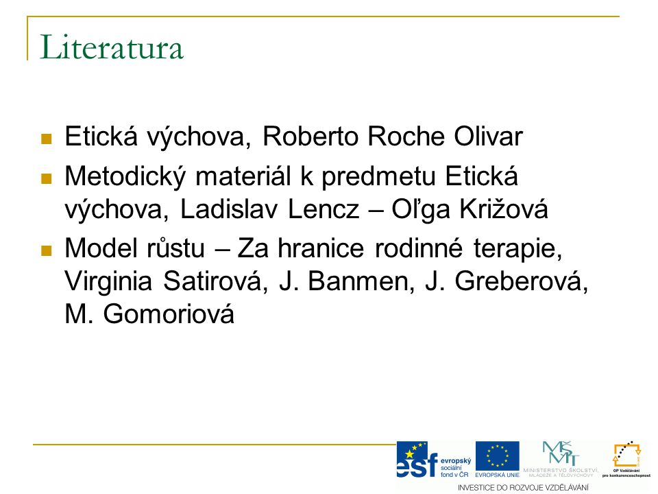 Literatura Etická výchova, Roberto Roche Olivar