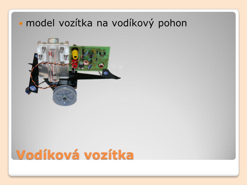model vozítka na vodíkový pohon