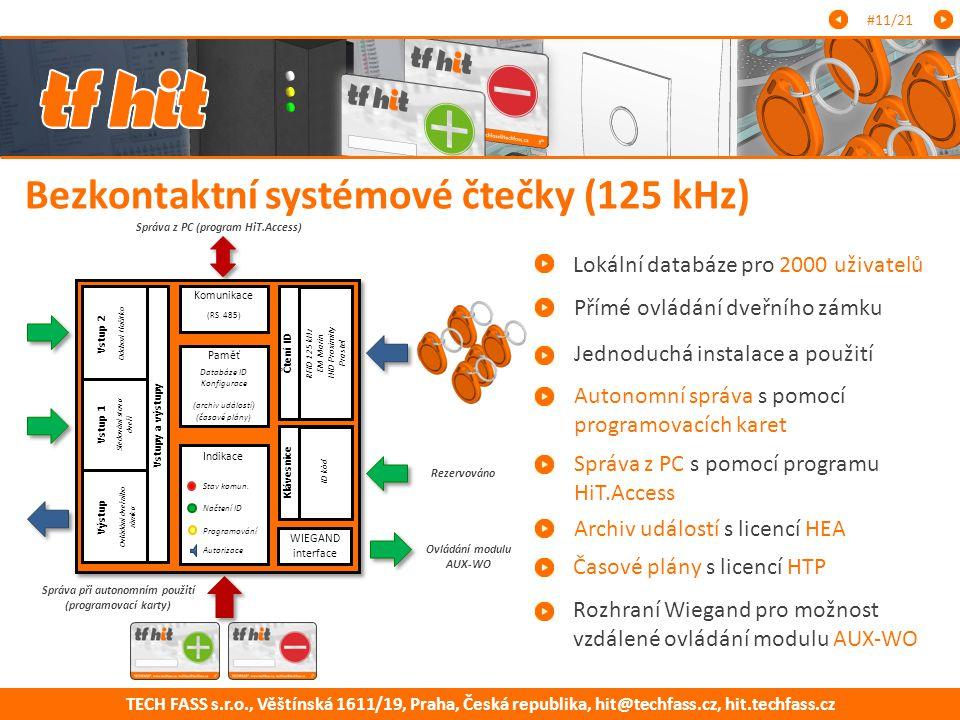 Bezkontaktní systémové čtečky (125 kHz)