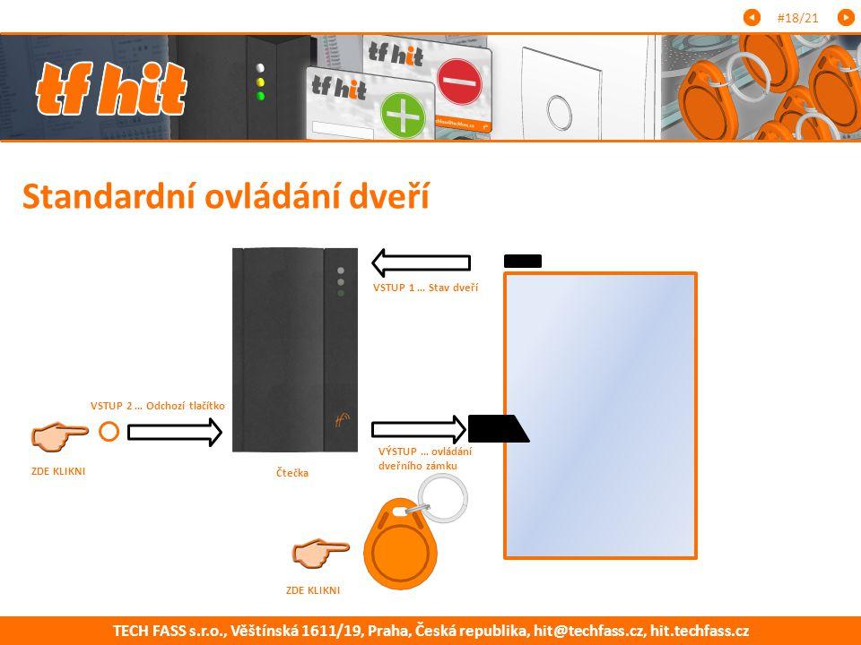 Standardní ovládání dveří
