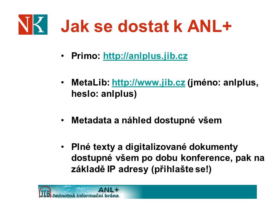 Jak se dostat k ANL+ Primo: http://anlplus.jib.cz