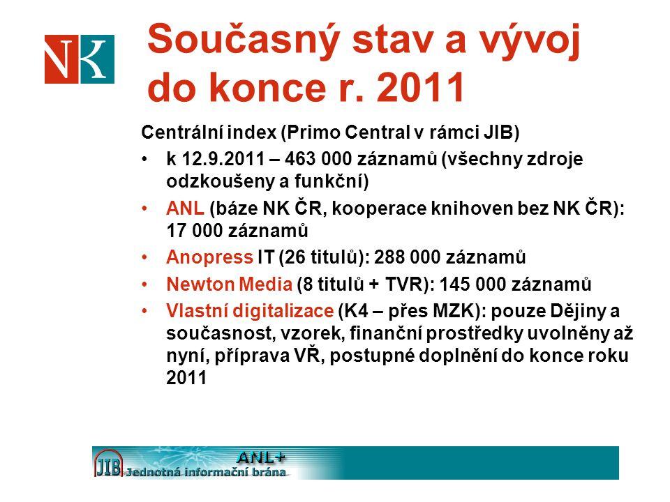 Současný stav a vývoj do konce r. 2011