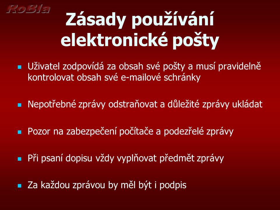 Zásady používání elektronické pošty