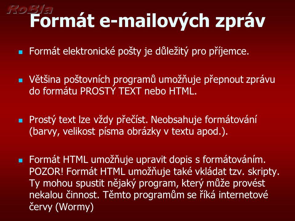 Formát e-mailových zpráv