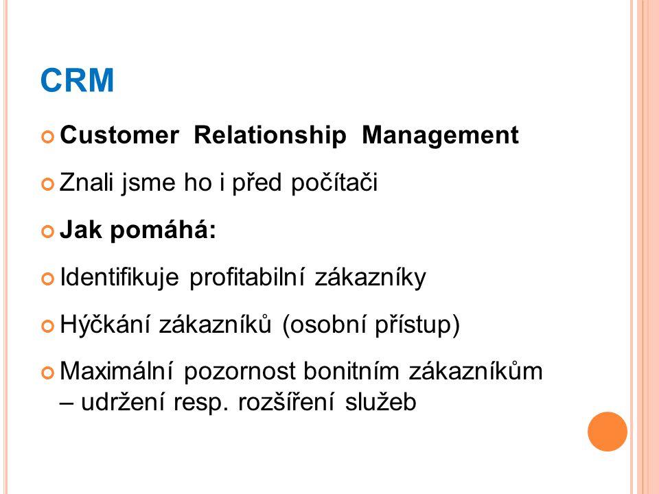 CRM Customer Relationship Management Znali jsme ho i před počítači
