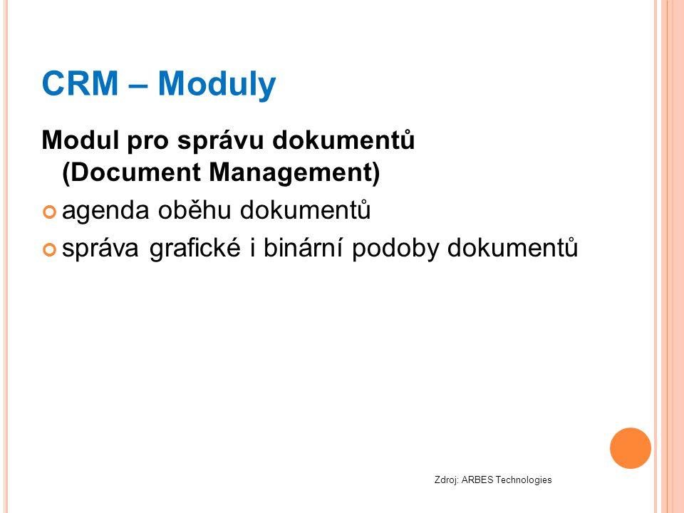 CRM – Moduly Modul pro správu dokumentů (Document Management)