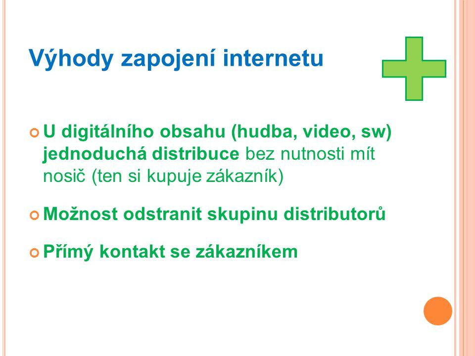 Výhody zapojení internetu