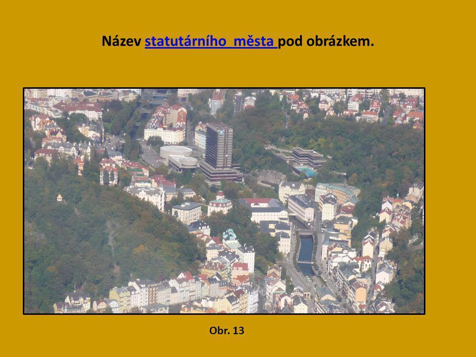 Název statutárního města pod obrázkem.