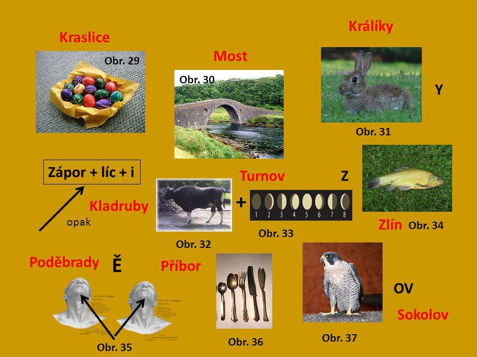 + Ě Králíky Kraslice Most Y Zápor + líc + i Turnov Z Kladruby Zlín