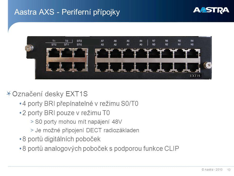 Aastra AXS - Periferní přípojky
