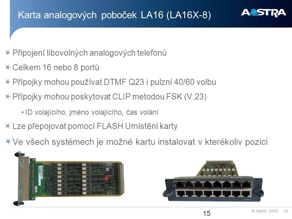 Karta analogových poboček LA16 (LA16X-8)
