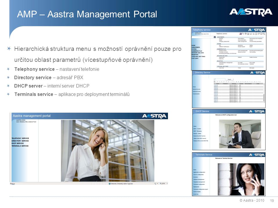 AMP – Aastra Management Portal